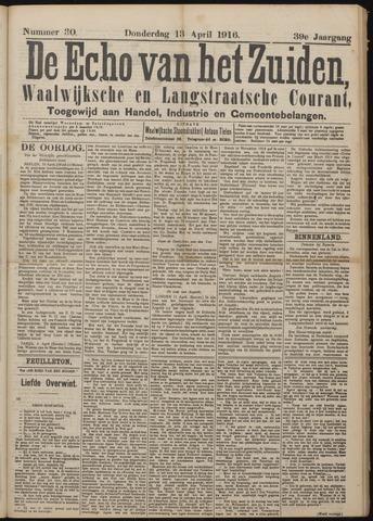 Echo van het Zuiden 1916-04-13