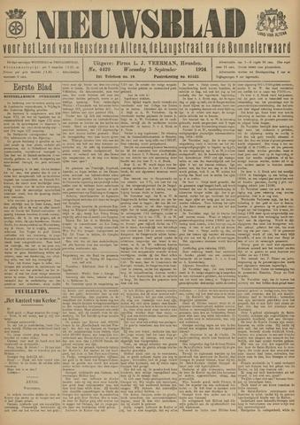 Nieuwsblad het land van Heusden en Altena de Langstraat en de Bommelerwaard 1924-09-03