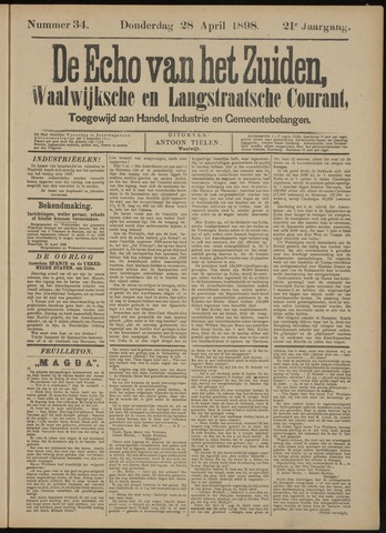 Echo van het Zuiden 1898-04-28
