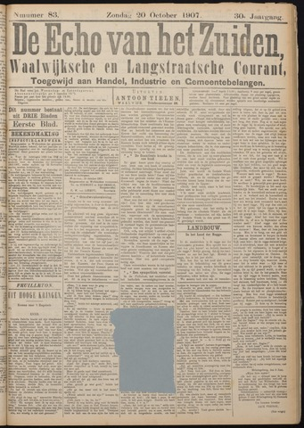 Echo van het Zuiden 1907-10-20