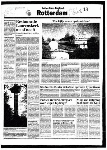 Rotterdamsch Nieuwsblad / Schiedamsche Courant / Rotterdams Dagblad / Waterweg / Algemeen Dagblad 1993-11-06