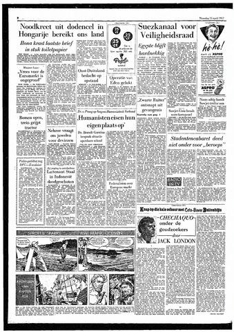 Rotterdamsch Parool / De Schiedammer 1957-04-15