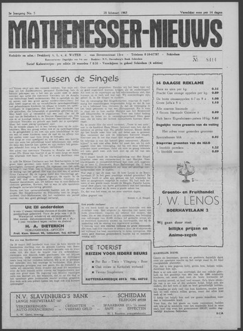 Mathenesser Nieuws 1963-02-28