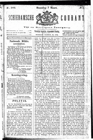 Schiedamsche Courant 1881-03-07
