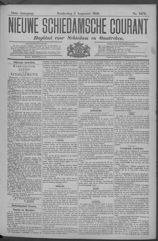 Nieuwe Schiedamsche Courant 1909-08-05