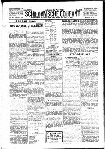 Schiedamsche Courant 1931-04-25