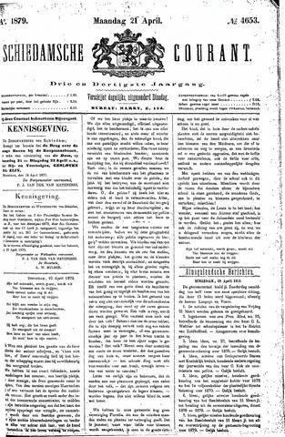 Schiedamsche Courant 1879-04-21