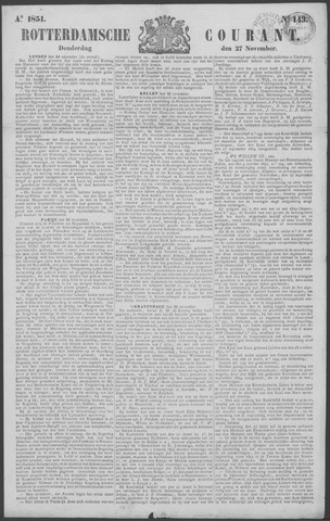 Rotterdamse Courant 1851-11-27