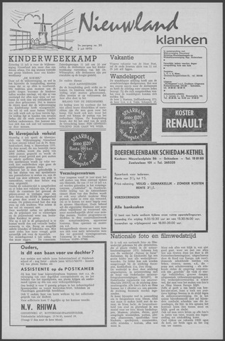Nieuwland Klanken 1970-07-02