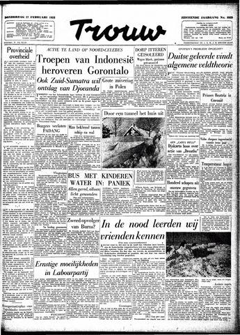 Trouw / De Rotterdammer 1958-02-27