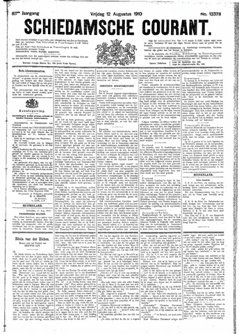 Schiedamsche Courant 1910-08-12