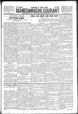 Schiedamsche Courant 1929-01-17