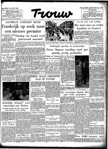 Trouw / De Rotterdammer 1954-06-14