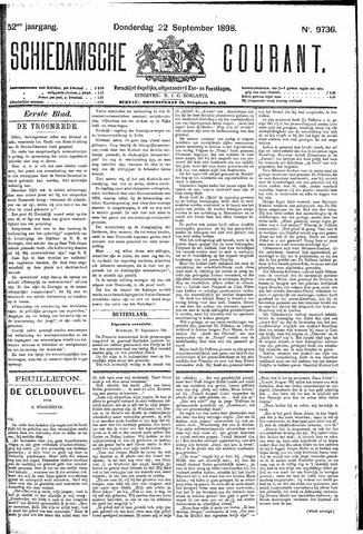 Schiedamsche Courant 1898-09-22