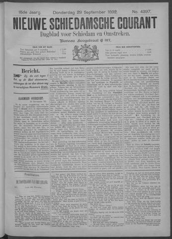 Nieuwe Schiedamsche Courant 1892-09-29