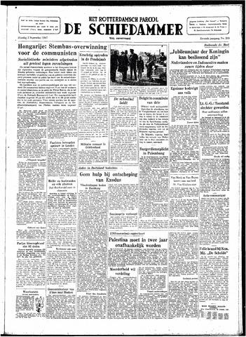 Rotterdamsch Parool / De Schiedammer 1947-09-02