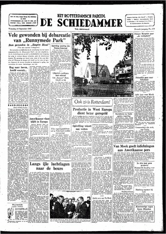 Rotterdamsch Parool / De Schiedammer 1947-09-10