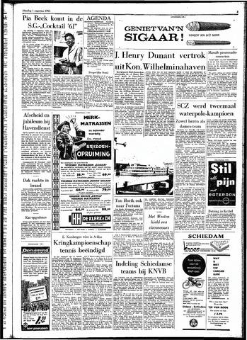 Rotterdamsch Parool / De Schiedammer 1961-08-01