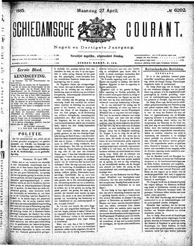Schiedamsche Courant 1885-04-27
