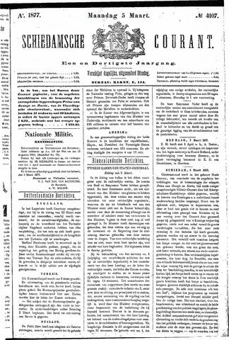 Schiedamsche Courant 1877-03-05