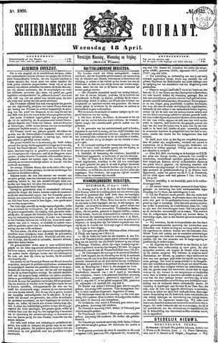 Schiedamsche Courant 1866-04-18