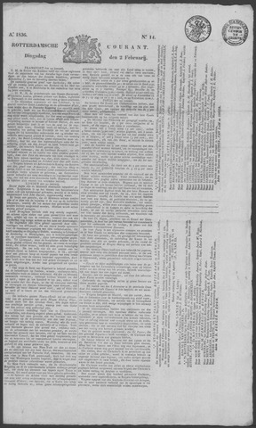 Rotterdamse Courant 1836-02-02