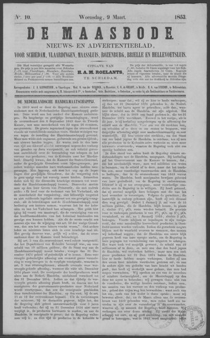 De Maasbode 1853-03-09