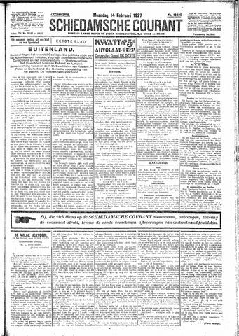 Schiedamsche Courant 1927-02-14