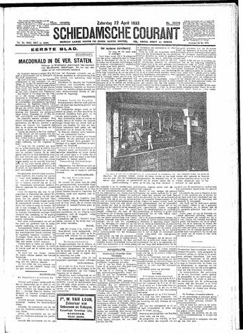 Schiedamsche Courant 1933-04-22