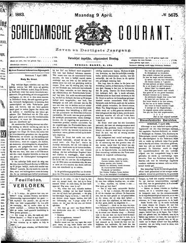 Schiedamsche Courant 1883-04-09