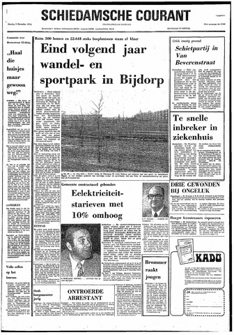 Rotterdamsch Nieuwsblad / Schiedamsche Courant / Rotterdams Dagblad / Waterweg / Algemeen Dagblad 1974-12-03