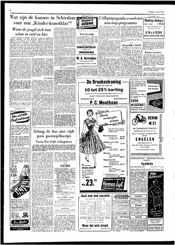 Rotterdamsch Parool / De Schiedammer 1955-07-01