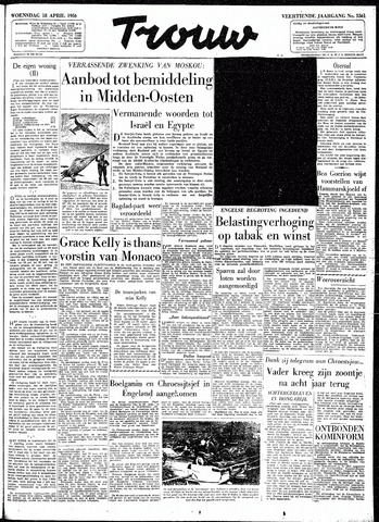Trouw / De Rotterdammer 1956-04-18