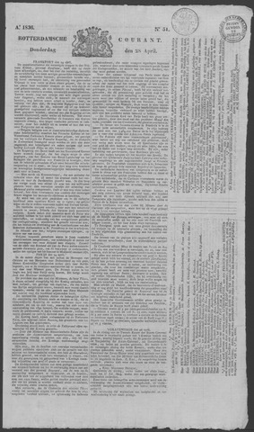 Rotterdamse Courant 1836-04-28