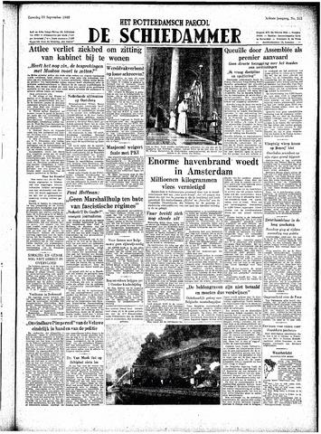 Rotterdamsch Parool / De Schiedammer 1948-09-11