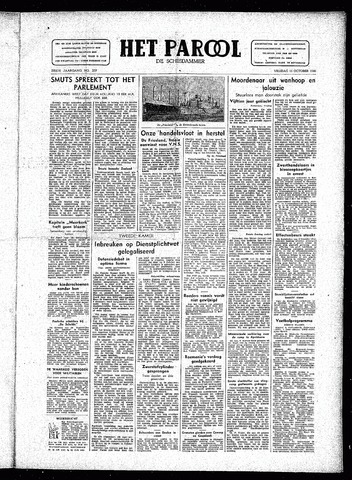 Rotterdamsch Parool / De Schiedammer 1946-10-11