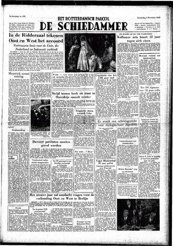 Rotterdamsch Parool / De Schiedammer 1949-11-03