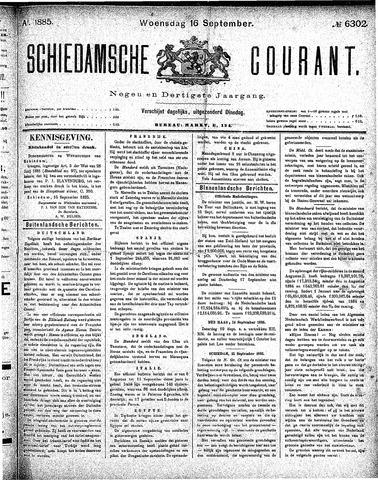 Schiedamsche Courant 1885-09-16