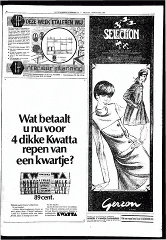 Rotterdamsch Nieuwsblad / Schiedamsche Courant / Rotterdams Dagblad / Waterweg / Algemeen Dagblad 1966-09-02