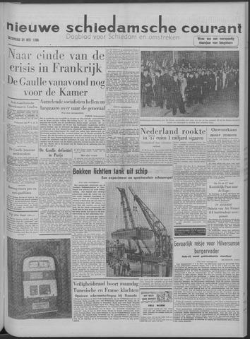 Nieuwe Schiedamsche Courant 1958-05-31