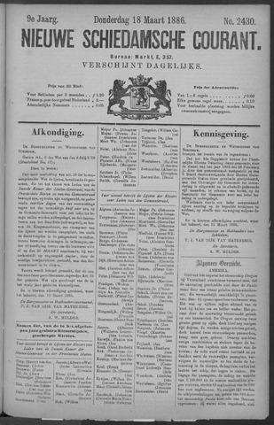 Nieuwe Schiedamsche Courant 1886-03-18