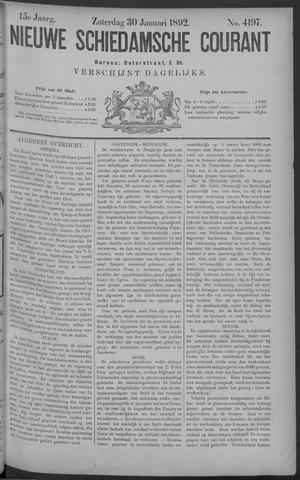 Nieuwe Schiedamsche Courant 1892-01-30