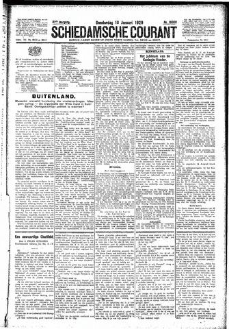 Schiedamsche Courant 1929-01-10