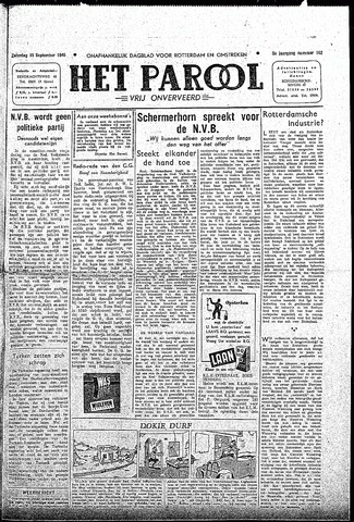Rotterdamsch Parool / De Schiedammer 1945-09-15