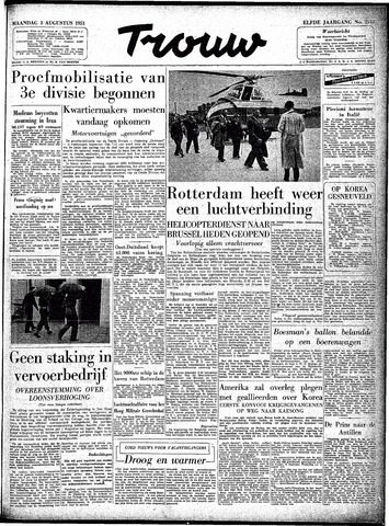 Trouw / De Rotterdammer 1953-08-03