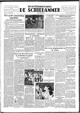 Rotterdamsch Parool / De Schiedammer 1947-10-07
