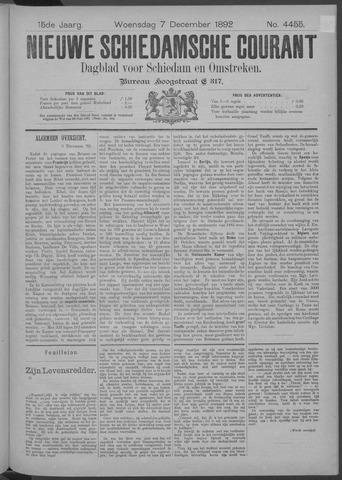 Nieuwe Schiedamsche Courant 1892-12-07