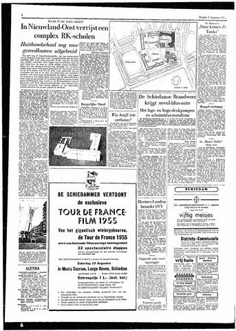 Rotterdamsch Parool / De Schiedammer 1955-08-09