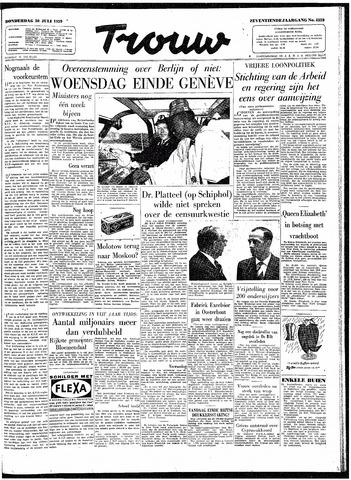Trouw / De Rotterdammer 1959-07-30