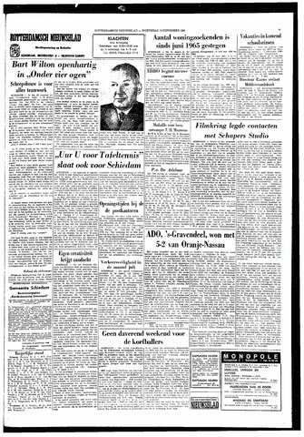 Rotterdamsch Nieuwsblad / Schiedamsche Courant / Rotterdams Dagblad / Waterweg / Algemeen Dagblad 1966-09-14
